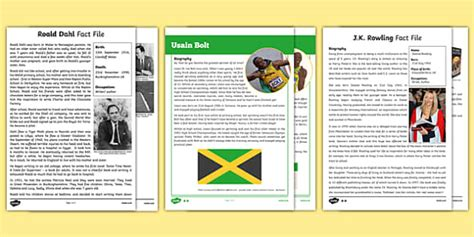 biography exles uk biography text exles resource pack