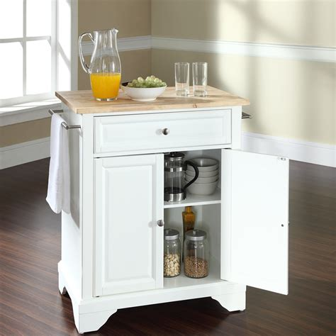 white kitchen island with natural top lafayette kitchen island natural wood top portable