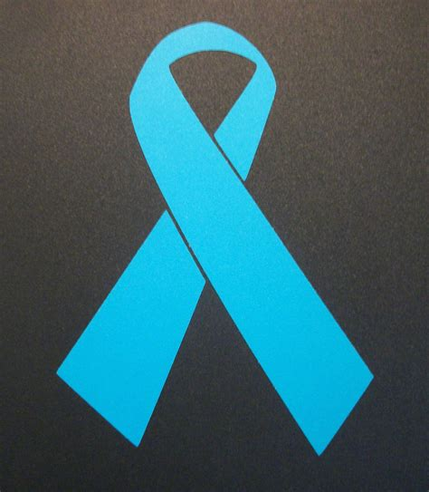 ovarian cancer color ribbon ovarian cancer awareness ribbon qty 2 teal vinyl sticker