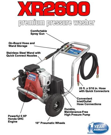 xr pressure washer replacement parts