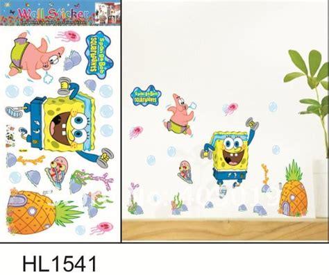 Wallpaper Sticker Paper Wall Tema Kartoon Spongebob spongebob wall decals roselawnlutheran