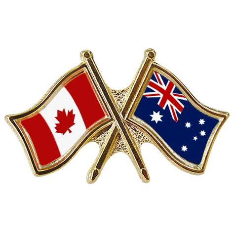 canada australia crossed pin crossed flag pin