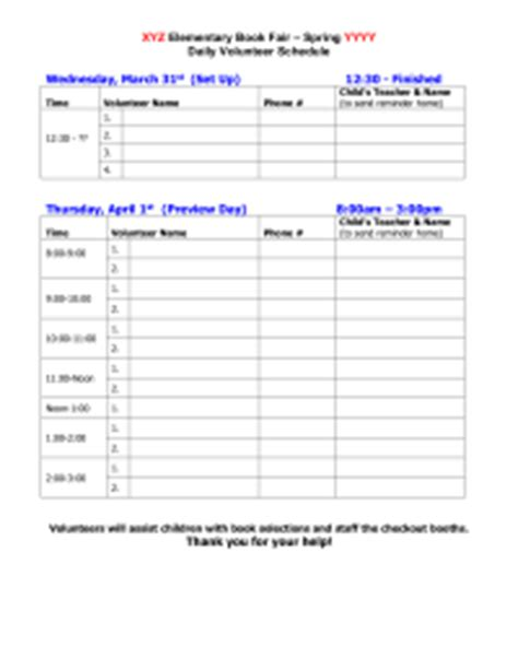 fair sign in sheet template book fairs pto today