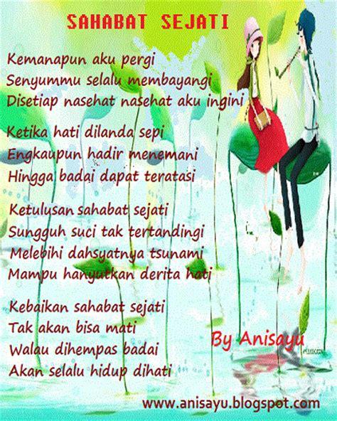 puisi cinta by anisayu puisi tentang sahabat sejati