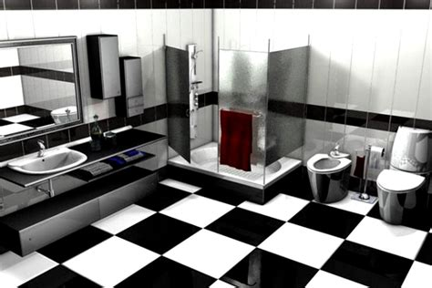 In Bathroom Vanity With Sink - modern black and white bathroom tile designs black bathroom tile designs tsc
