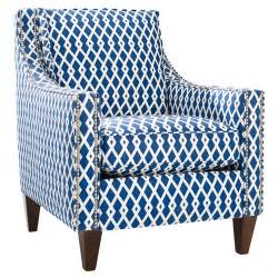 Patterned Armchair Design Ideas Homeware Pryce Accent Chair Ultramarine At Hayneedle