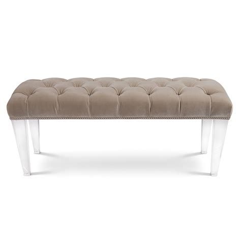 button tufted bench allan knightacrylic upholstery ottomans stools and