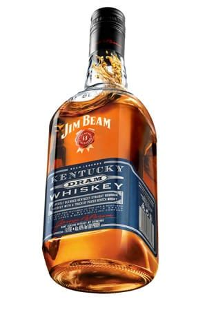 new jim beam kentucky dram blends scotch, bourbon