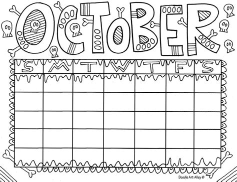 december calendar coloring pages october coloring page preschool crafts