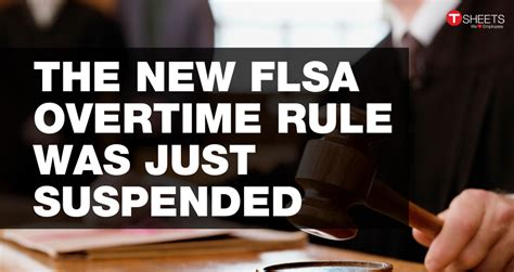 Passport Rule Temporarily Suspended by The New Flsa Overtime Rule Was Just Suspended