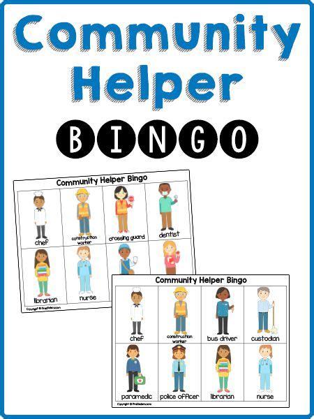 kindergarten activities community helpers community helpers bingo cards pinterest police officer