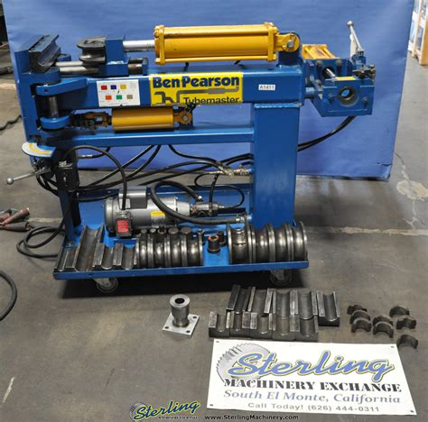 hydraulic pipe bender for sale 3 quot used ben pearson tubemaster hydraulic tube bender mdl