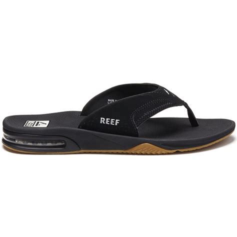 black reef sandals reef fanning sandals