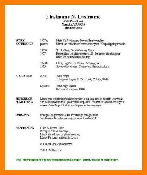 free blank resume templates for teachers resume sle microsoft word resume format