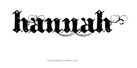 hannah name tattoo design name designs designs and