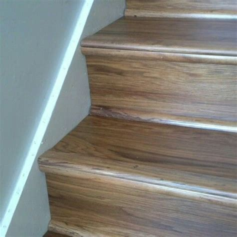 Luxury vinyl wood planks on stairs   For the Home
