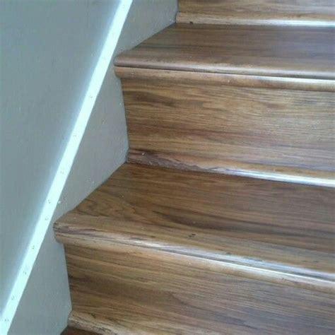 Luxury vinyl wood planks on stairs #LVT #vinylwood You?ll