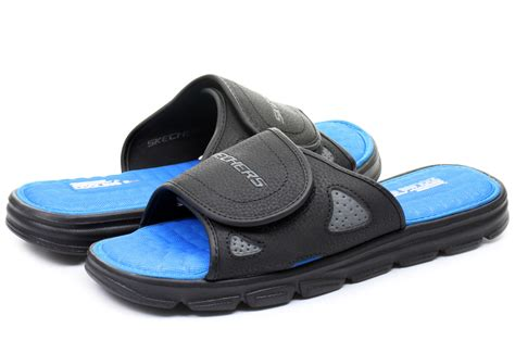 skechers house shoes skechers slippers cross shore 51302 bbk online shop for sneakers shoes and boots