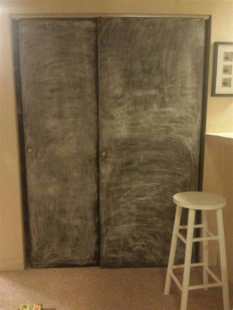 chalkboard paint time between coats chalkboard closet doors a space story