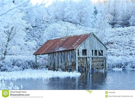 old boat house old boat house in winter stock photo image 12240020