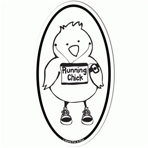 running chick car magnet white az coloring pages