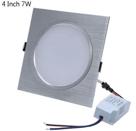 Downlight 3 3 Inch Silver generic square 4 inch 7w led panel light ceiling downlight