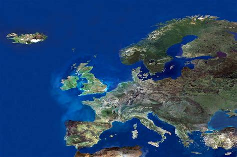 map of europe in detail in high resolution detail satellite photo of europe