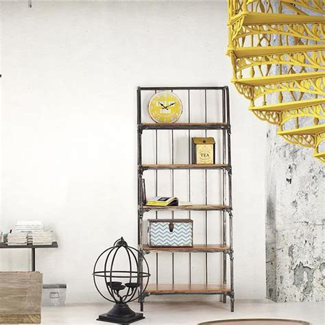 regal industrial style accra shelf industrial style shelf or bookcase in metal