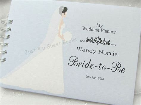 personalised wedding planner to be journal note book any colour gift idea ebay
