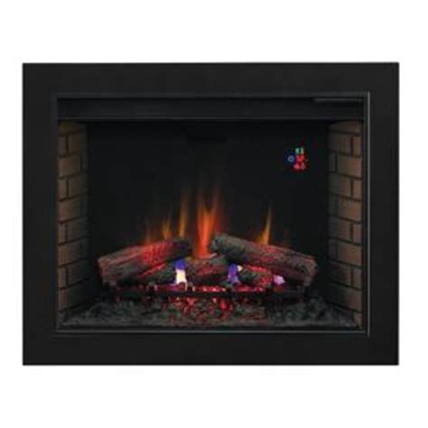 37 75 in traditional electric fireplace insert