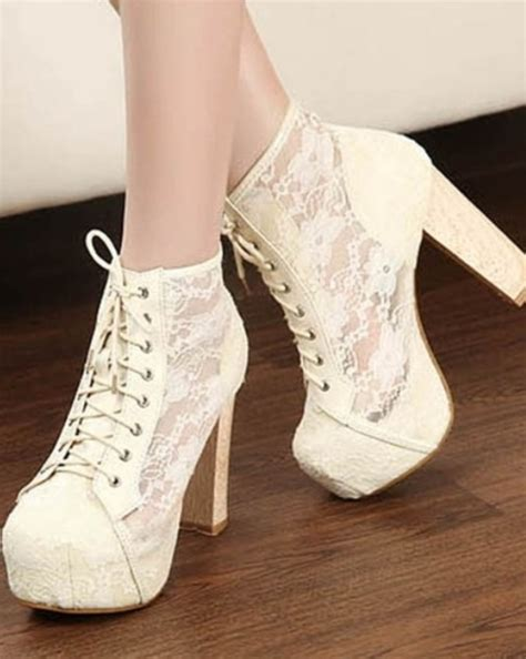 gorgeous high heel shoes gorgeous womens see through lace high heels platforms