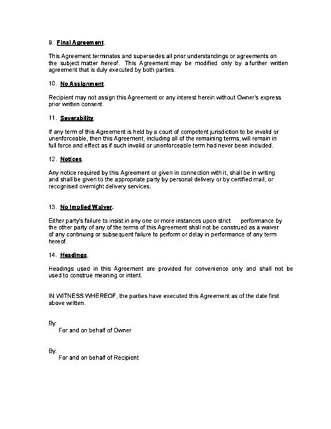 non disclosure and non compete agreement template non disclosure and non compete agreement free