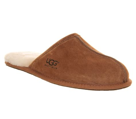 office slippers ugg scuff slippers chestnut suede casual