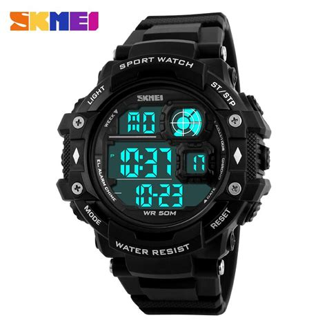 Jam Tangan Skmei Casio Led Ad1110 Blackblue skmei jam tangan digital pria dg1118 black white