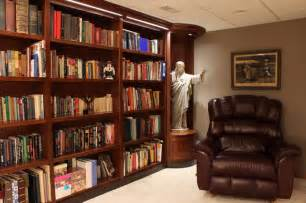 Small Contemporary Kitchens Design Ideas custom bookshelves for private library contemporary