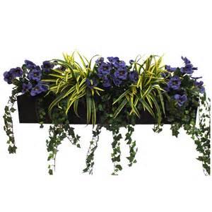 Topiary Box Balls - pansy amp dracaena window box artificial plants and trees big plant shop