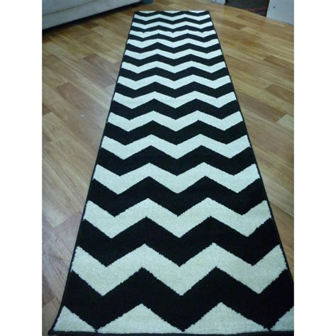 black and rugs black and white rug runner rugs ideas