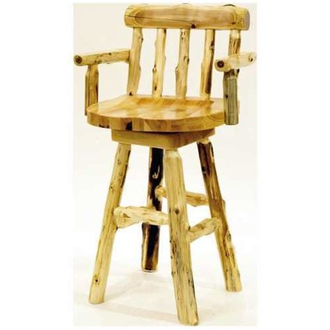 Bar Stools With Arms And Back by Cedar Bar Stool With Back And Arms