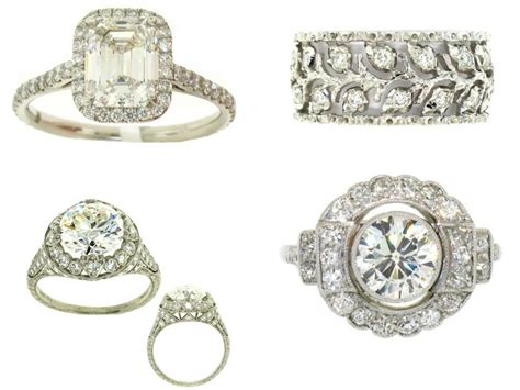 vintage platinum wedding rings ipunya