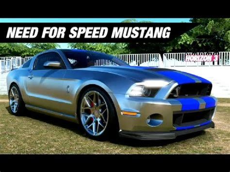 mustang horizon need for speed mustang build forza horizon 3