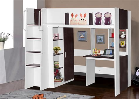 kids bed with desk boston loft bunk with single bed desk wardrobe