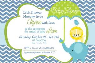 elephant baby shower invitation boy by asyouwishcreations4u