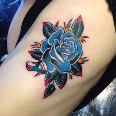 roses tattoo tumblr blue on