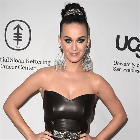 Cosmo Square Dress katy perry wore a leather gown to a gala in la