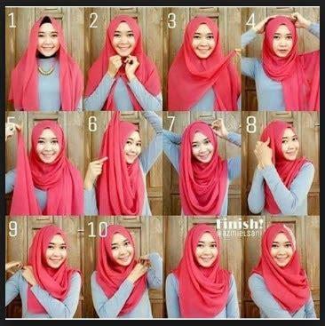 tutorial jilbab segi 4 simpel cara memakai jilbab segi empat simpel modern terbaru trend