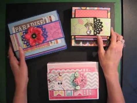 tutorial scrapbook 3d fold out folio scrapbook mini album tutorial available