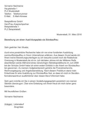 Motivationsschreiben Bewerbung Jobwechsel Muster Gt Bewerbung Als B 252 Rokauffrau B 252 Rokaufmann