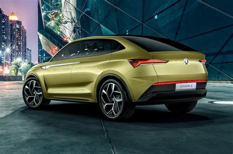 electric suv skoda vision e concept is an electric suv automotive car