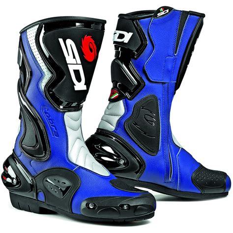 blue motorbike boots sidi cobra motorcycle boots motorbike racing race track