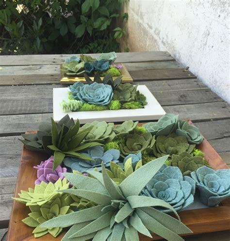 felt succulent vertical garden handmade